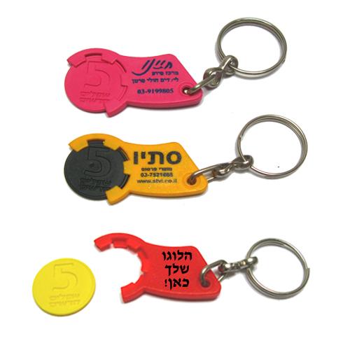 מחזיק מפתחות 5 שקלים