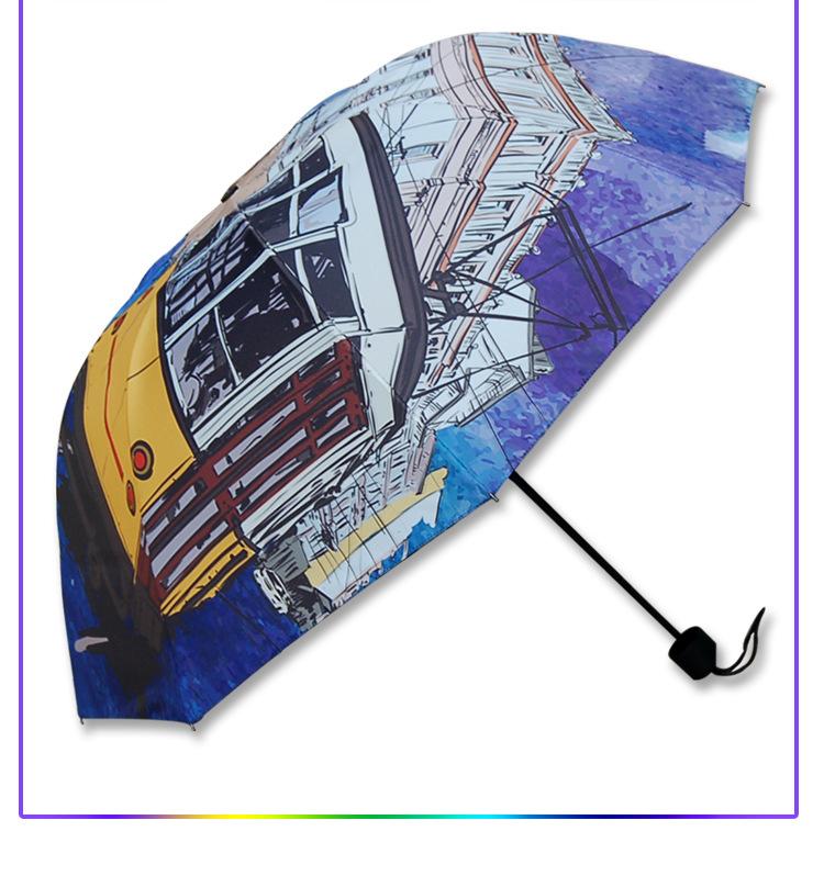 מטריות צבעוניות עם הדפס