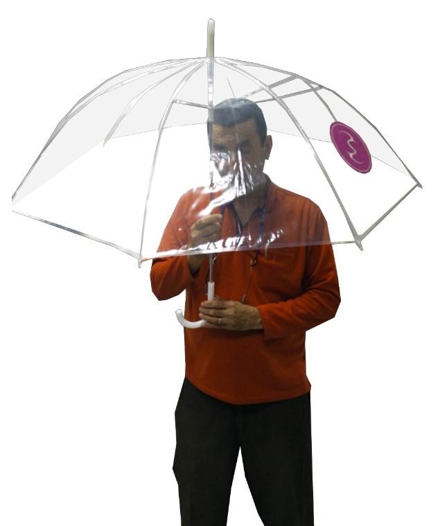 מטריה שקופה גדולה