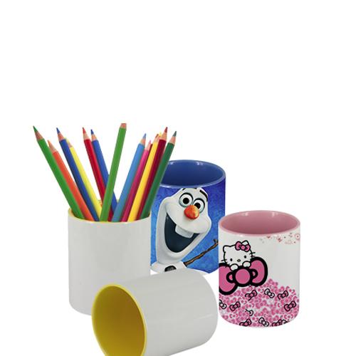 כוס לעטים עם הדפס צבעוני