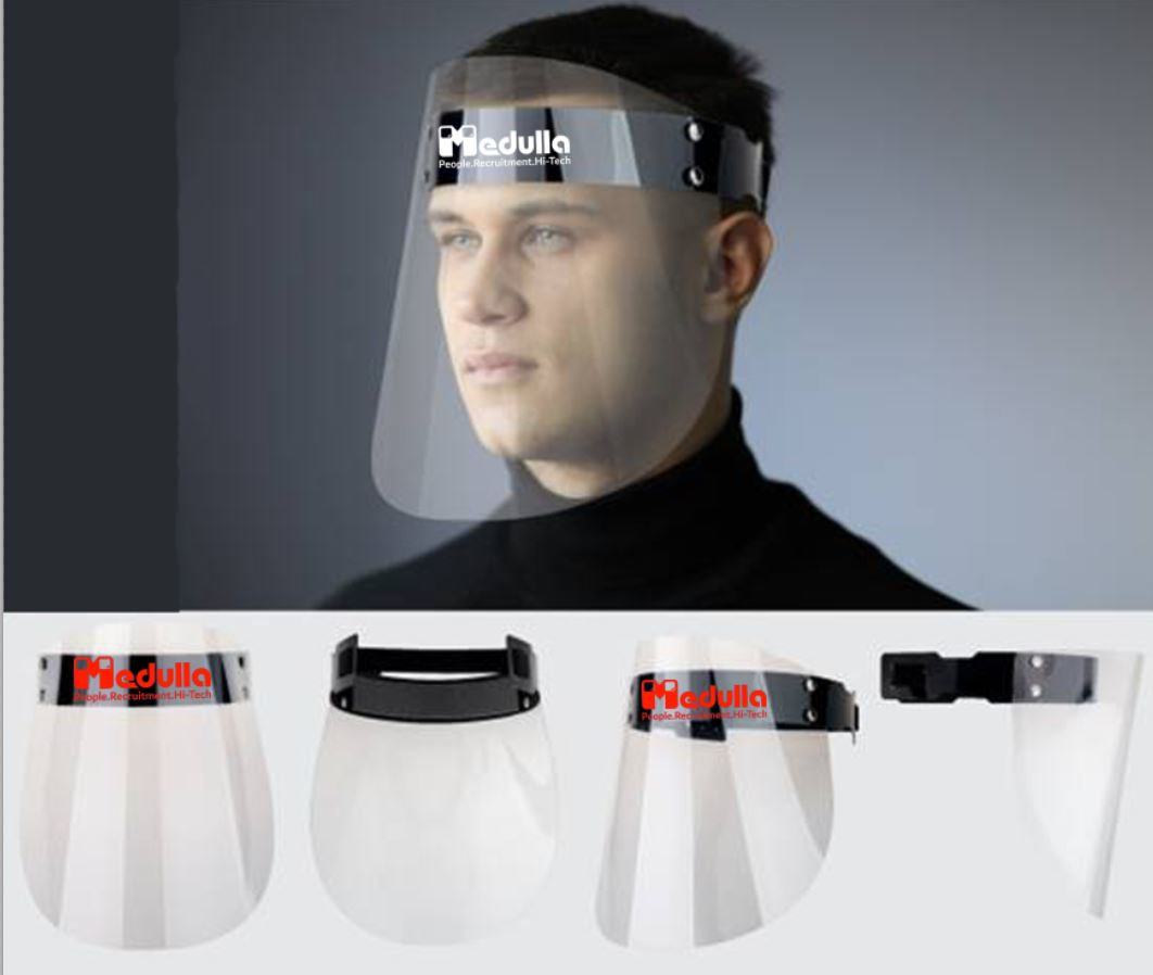 מגן פנים שקוף   משקף הגנה
