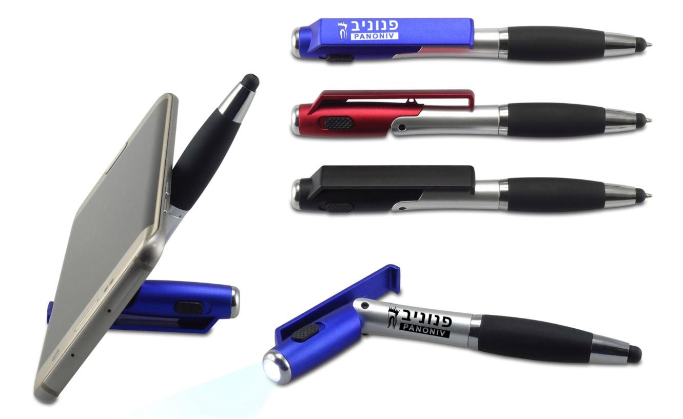 עט פנס | עט עם כרית מגע