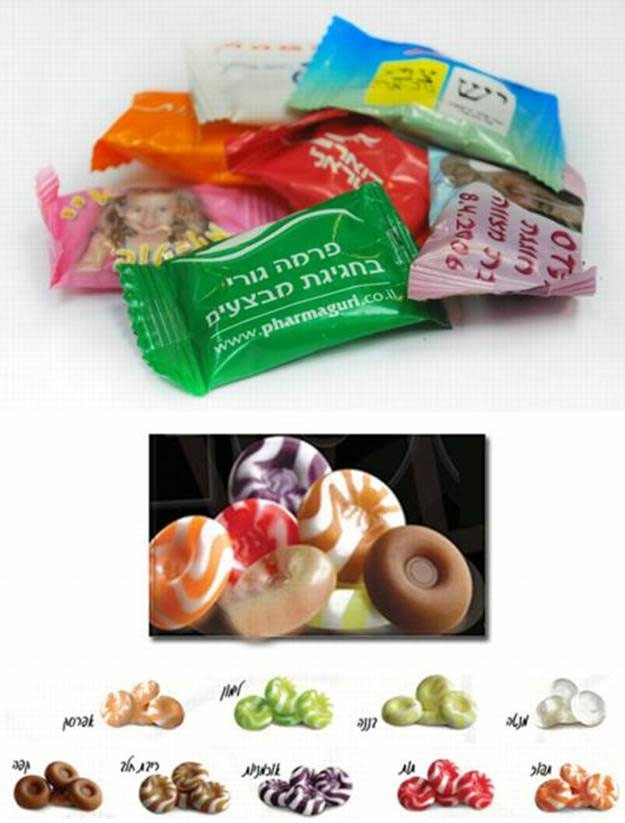 סוכריות ממותגות ללא סוכר