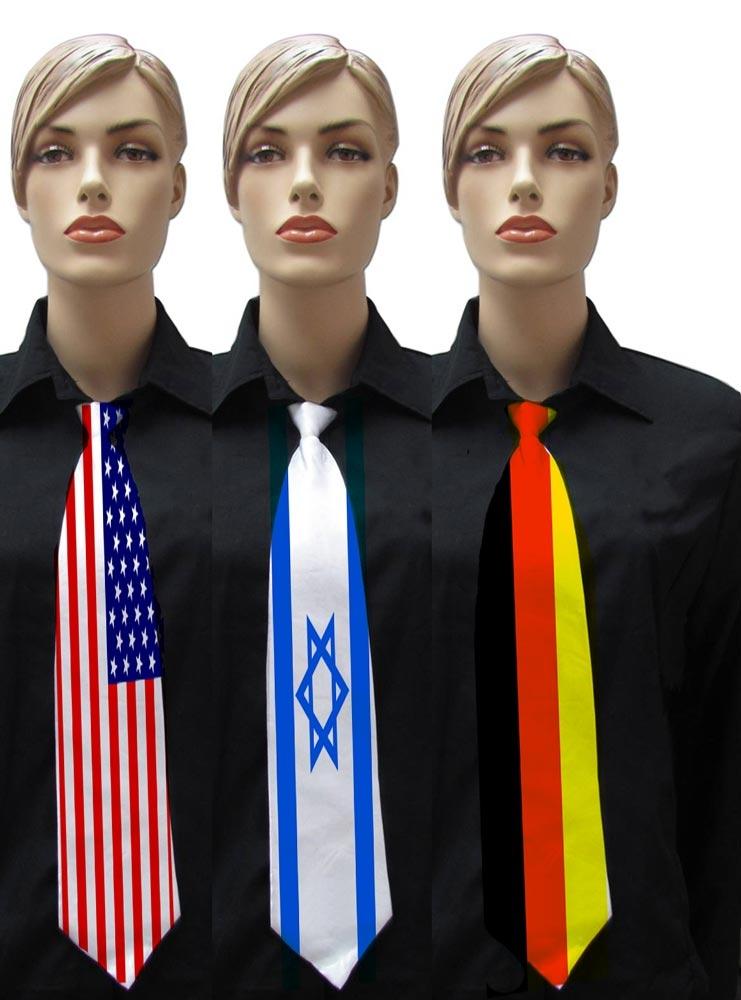 עניבות עם הדפס דגל