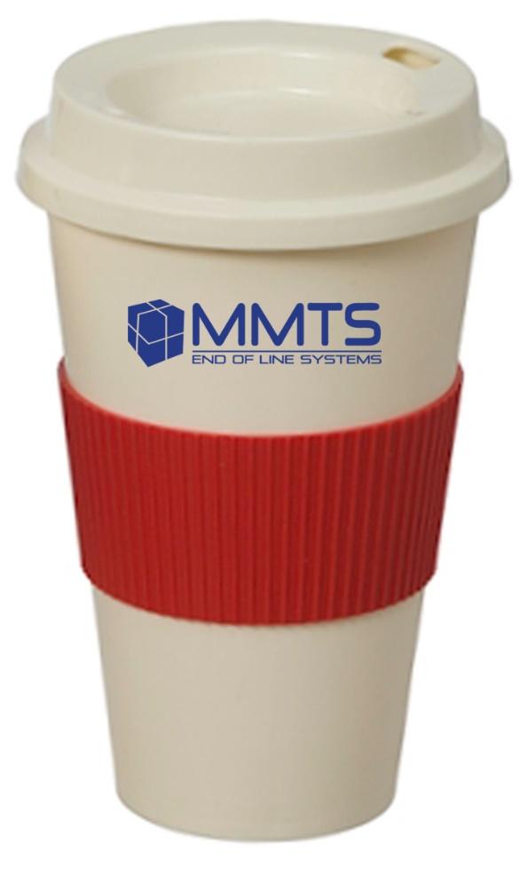 כוס מפלסטיק עם מכסה וחבק