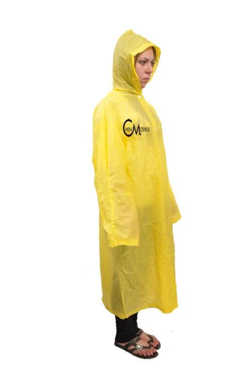 מעיל גשם צהוב ממותג