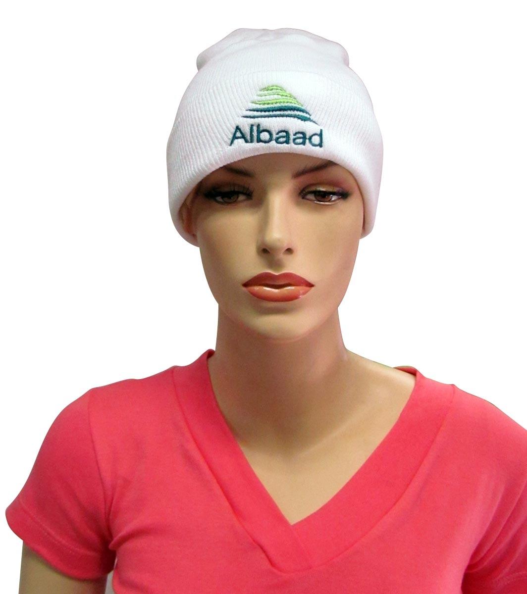כובע צמר לבן