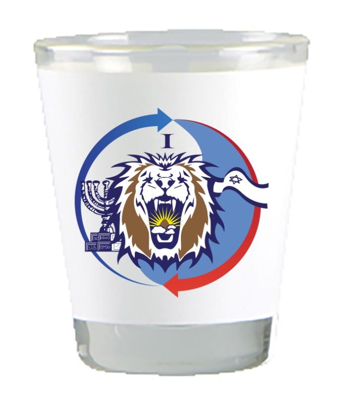 כוס צ'ייסר ממותג צבעוני