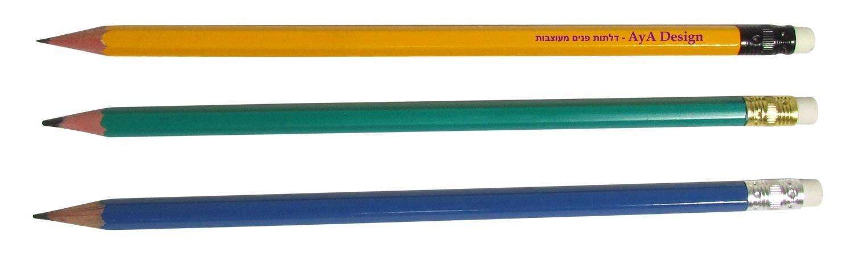 עפרונות לפסיכומטרי | הדפסה על עפרונות