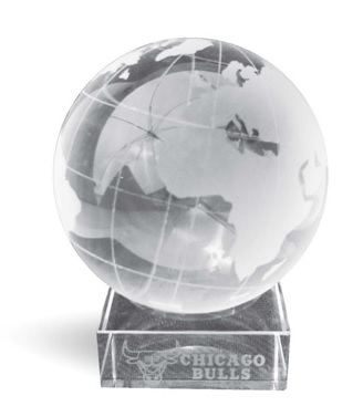 גלובוס זכוכית | מעמד שולחני למנהל