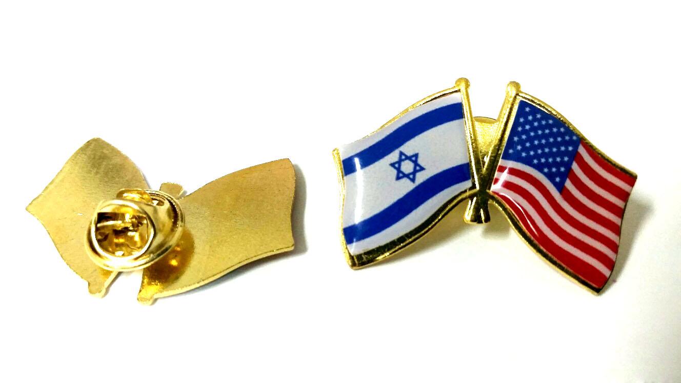 סיכת דגל ארה״ב ישראל