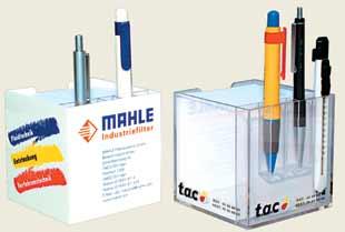 קופסת פלסטיק לנייר עם חוצץ לעטים + לוגו