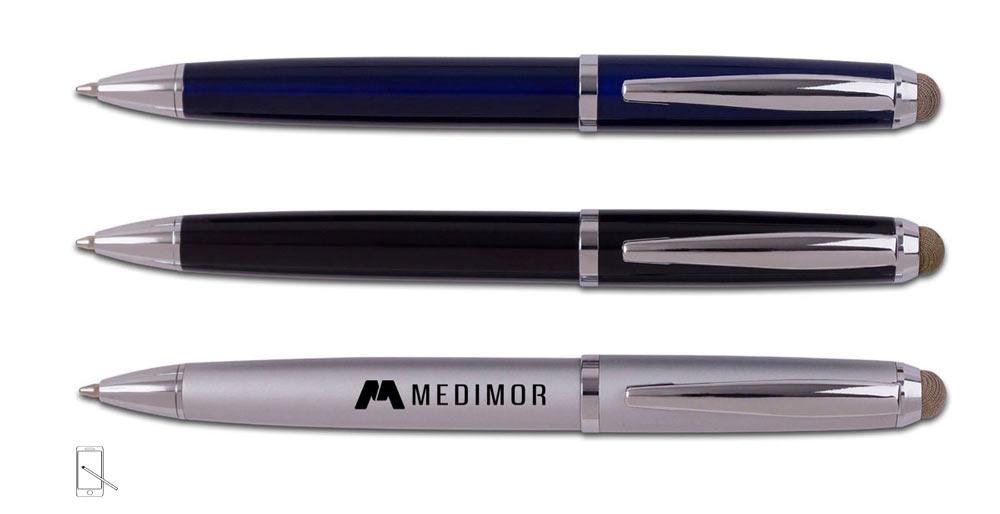 עט מתכתי עם כרית למסך מגע