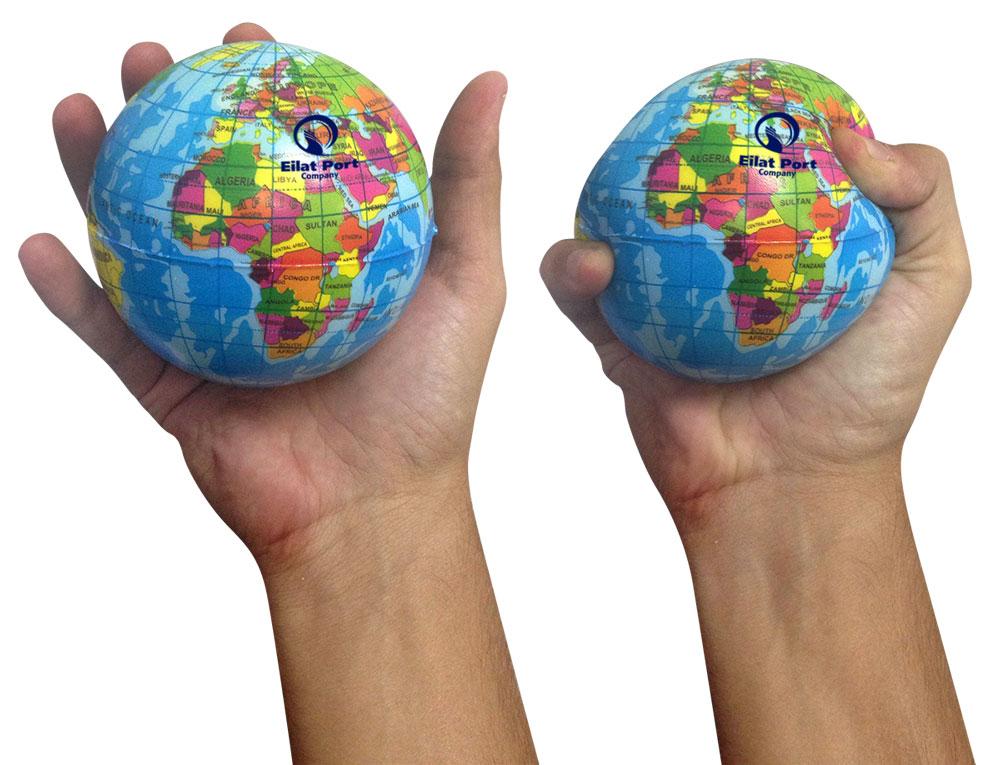 כדור לחץ גלובוס | כדור עולם גומי