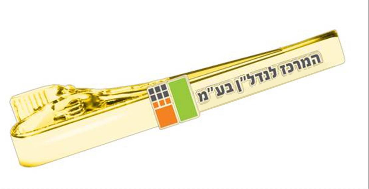 סיכה לעניבה זהב