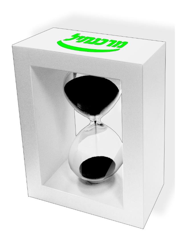 שעון חול 3 דקות | שעוני חול עם מסגרת עץ