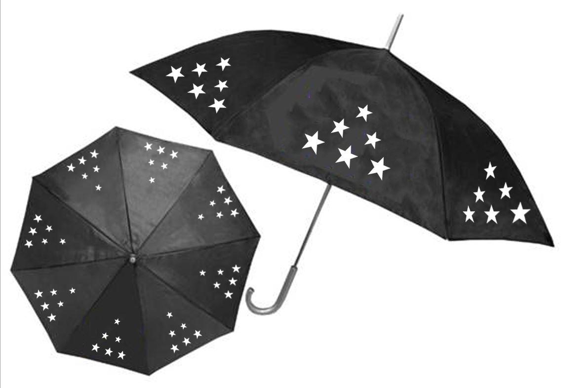 מוצרי חורף | מטריה שחורה עם לוגו