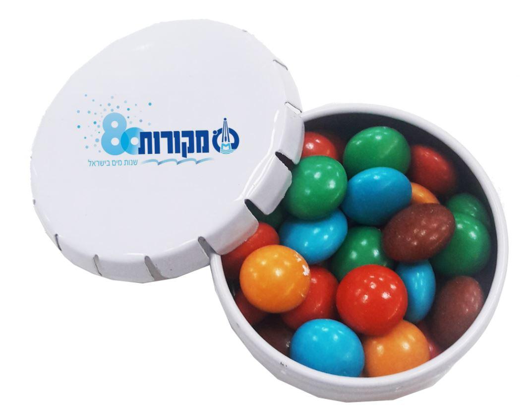 סוכריות בקופסה | קופסת סוכריות מיתוג צבעוני