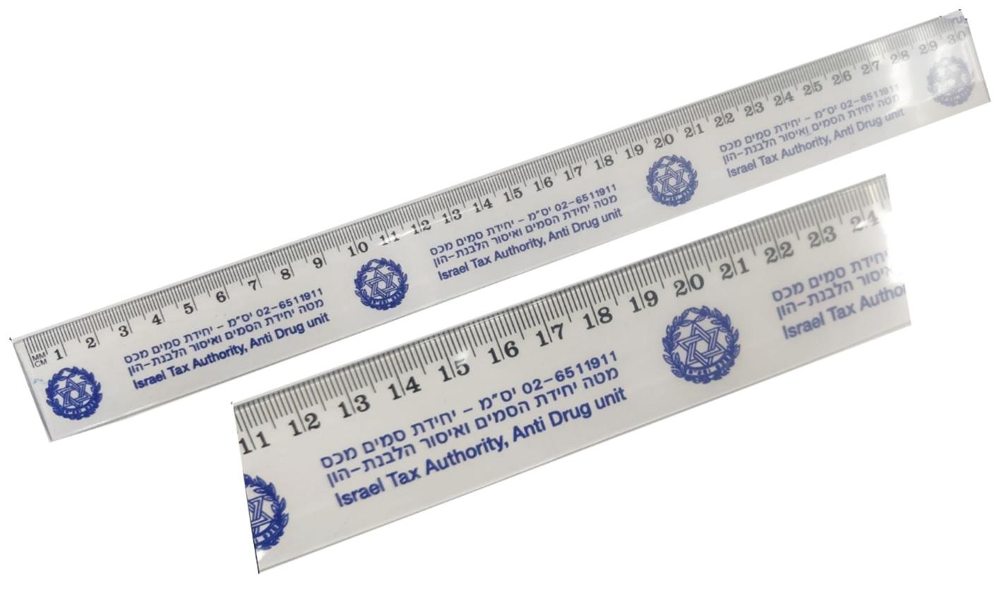 סרגל מודפס |  סרגלי פלסטיק ממותגים | סרגל שקוף