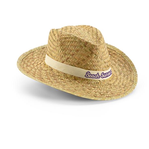 כובע קש עם שם רקום