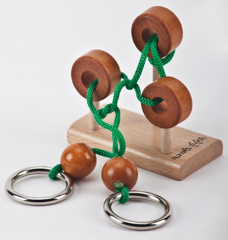 מבוך טבעות עץ משחק מנהלים