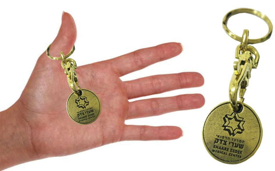 מחזיק מטבע לעגלה בסופר