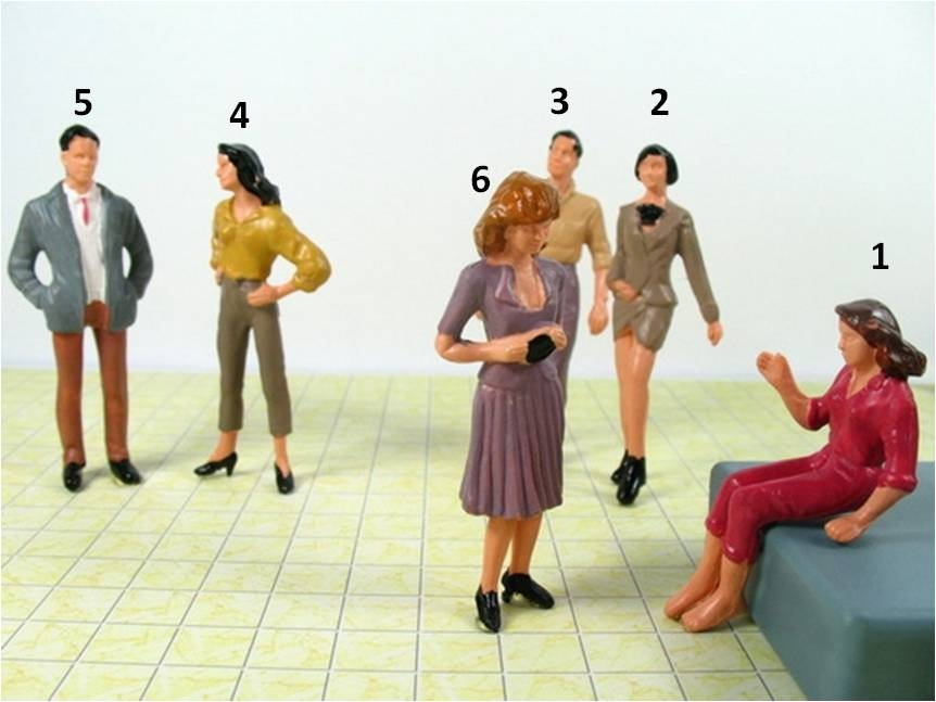 דמות מיניאטורית למודל גובה 7 ס''מ
