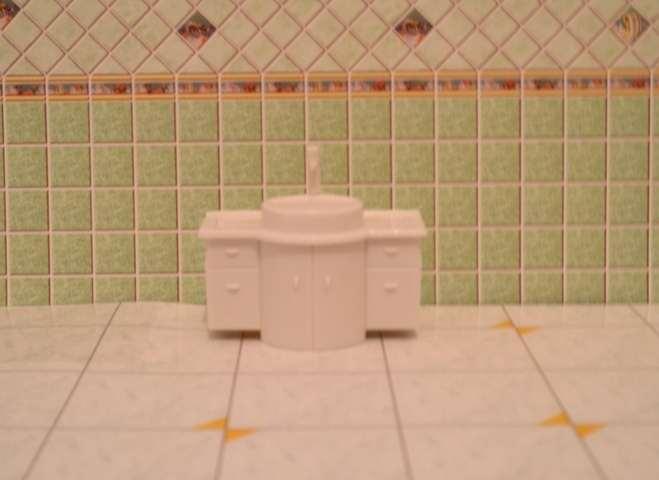 """ארון אמבטיה + כיור קנ""""מ 1:25"""