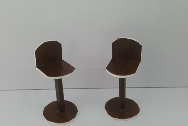 כסא בר דגם דניאל קנ''מ 1:25
