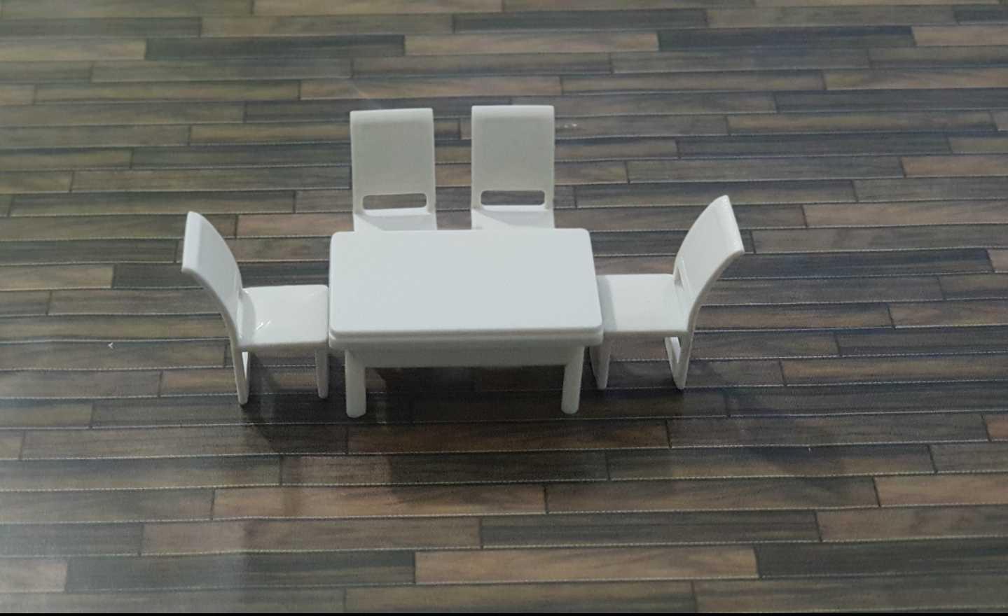 סט שולחן + 4 כסאות קנ