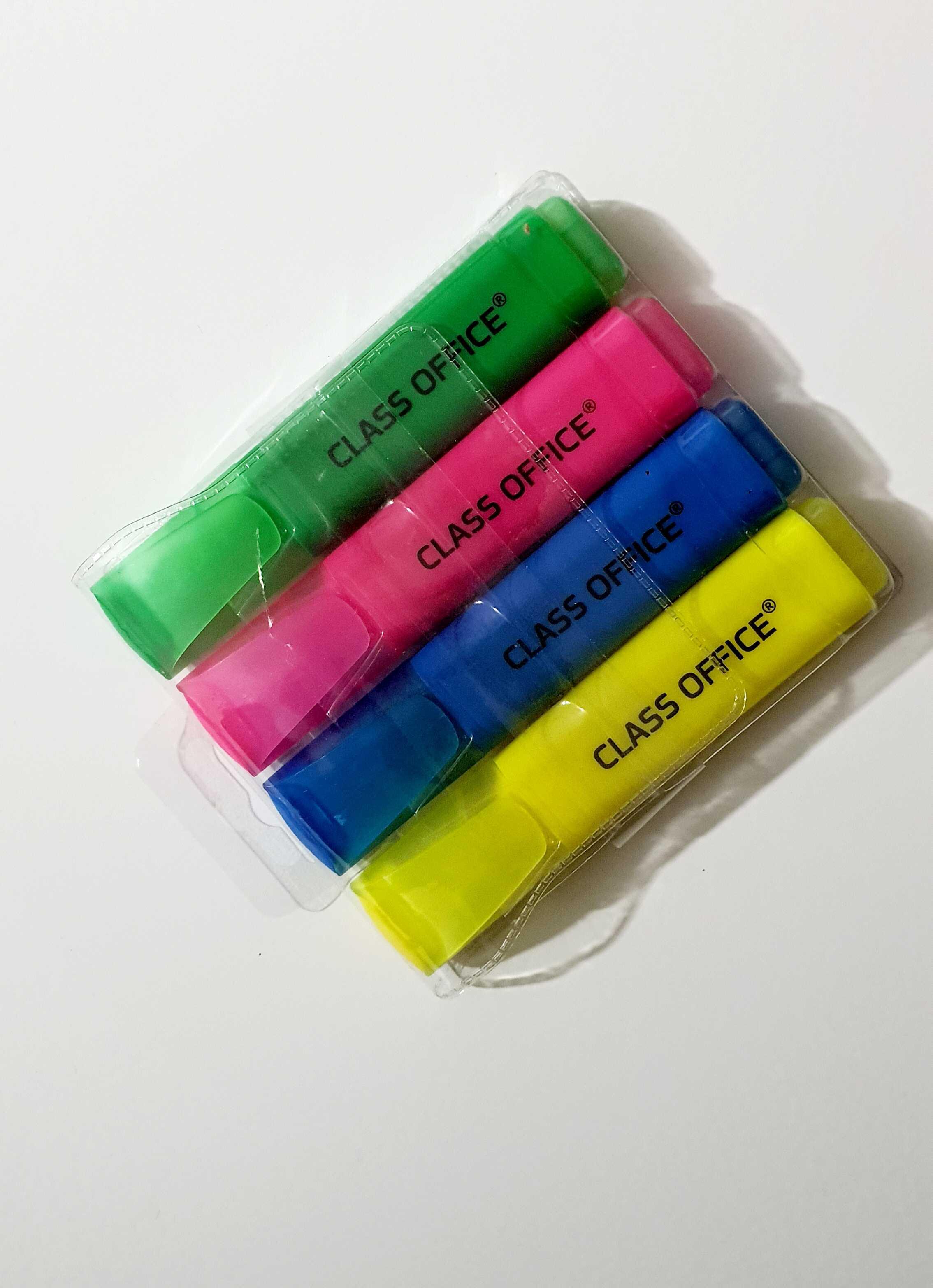 סט 4 יח' מדגשים מעורב צבעים