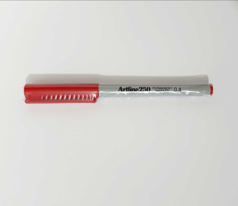 טוש ארטליין 250 דק 0.4 אדום