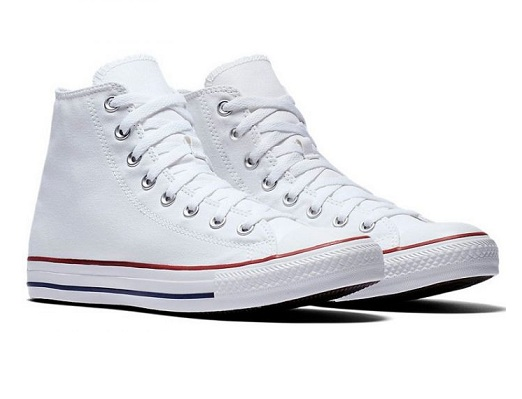 נעלי אולסטאר לבן גבוה נשים גברים Converse optical white - תמונה 2