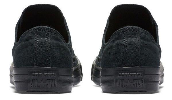 נעלי אולסטאר שחור חלק נשים גברים Converse Black Mono