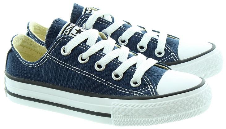 נעלי אולסטאר ילדים ילדות כחול Converse Navy