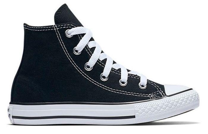 נעלי אולסטאר ילדים ילדות שחור Converse Black - תמונה 2