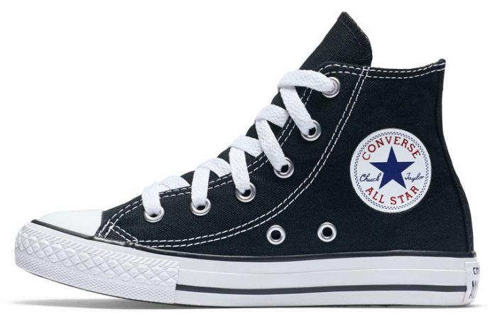 נעלי אולסטאר ילדים ילדות שחור Converse Black