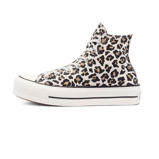 נעלי אולסטאר פלטפורמה גבוה מנומר נשים Converse Platform Leopard