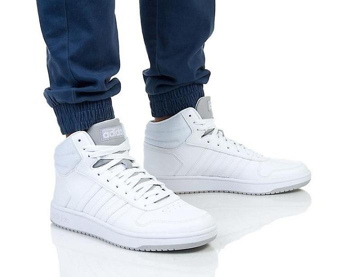 נעלי אדידס גבוהות גברים Adidas Hoops mid - תמונה 2
