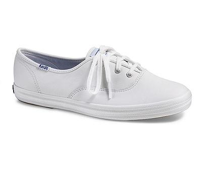 נעלי קדס עור נשים Keds Champion White Leather