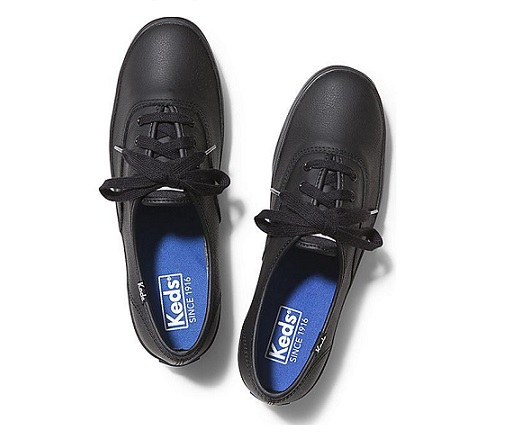 נעלי קדס עור נשים Keds Champion Black Leather