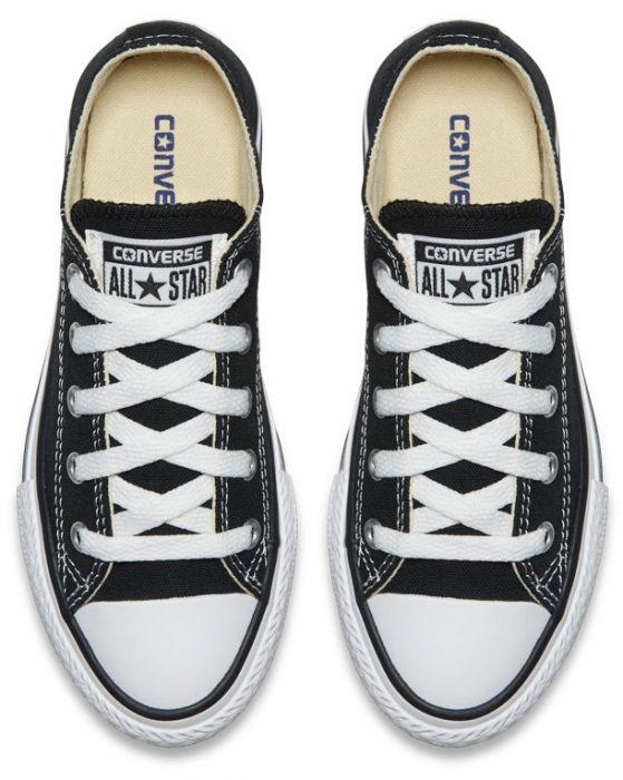 נעלי אולסטאר ילדים ילדות שחור Converse Black - תמונה 3