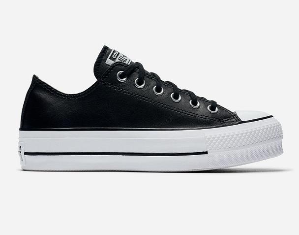 נעלי אולסטאר פלטפורמה עור נשים Converse Platform Leather