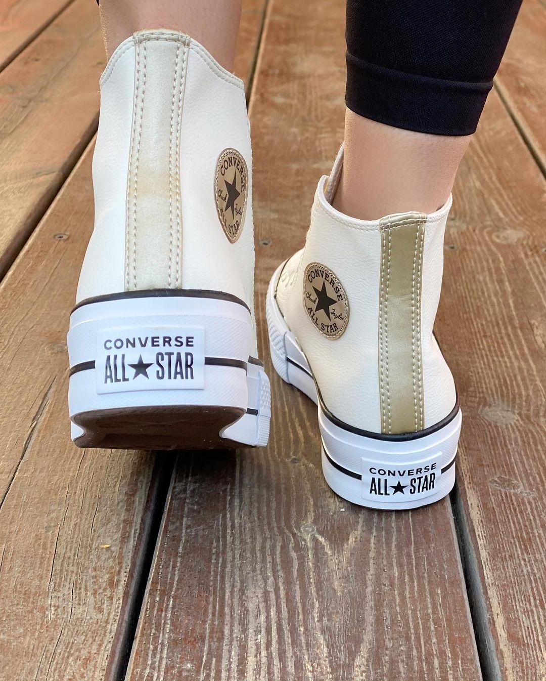 נעלי אולסטאר פלטפורמה גבוה עור נשים Converse Anodized Metals Platform