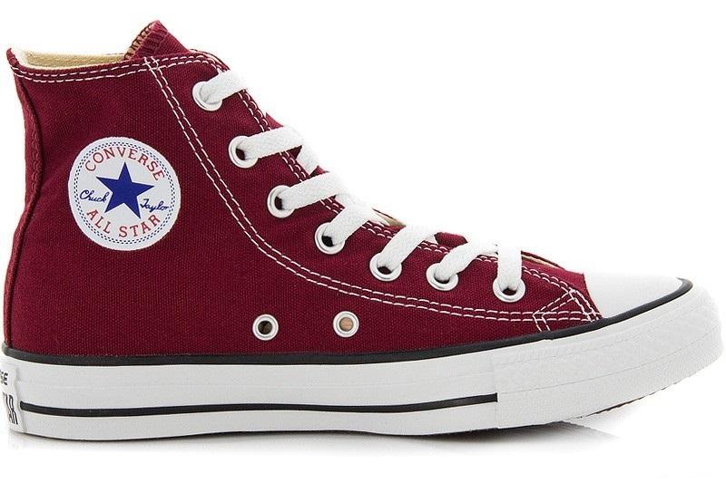 נעלי אולסטאר בורדו גבוה נשים גברים Converse maroon