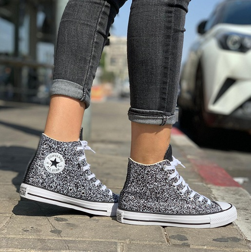 נעלי אולסטאר מנצנץ נצנצים נשים Converse Galaxy Dust - תמונה 1