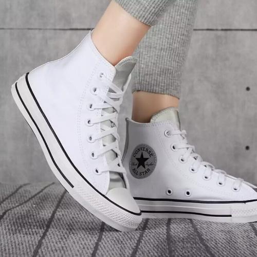 נעלי אולסטאר כסף לבן נשים Converse White Silver