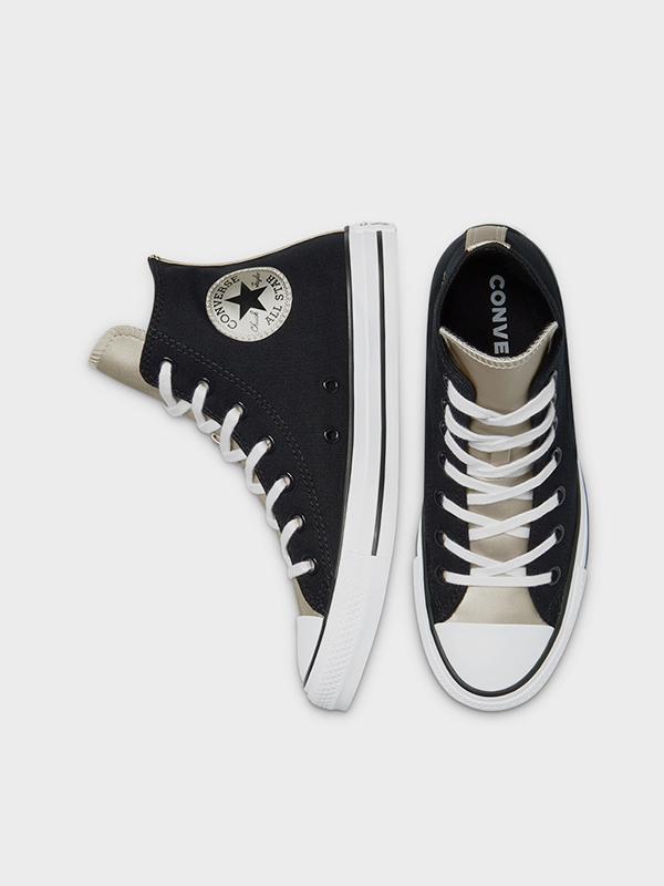 נעלי אולסטאר שחור זהב נשים Converse Black Gold