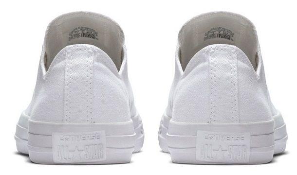 נעלי אולסטאר נשים גברים Converse Mono White
