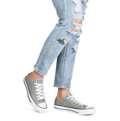 נעלי אולסטאר ירוק זית נשים גברים Converse Dark Stucco